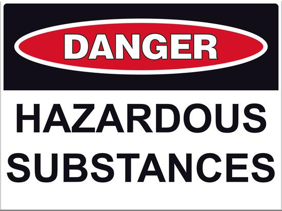 Describe hazardous substances and materials that may be found in the work setting