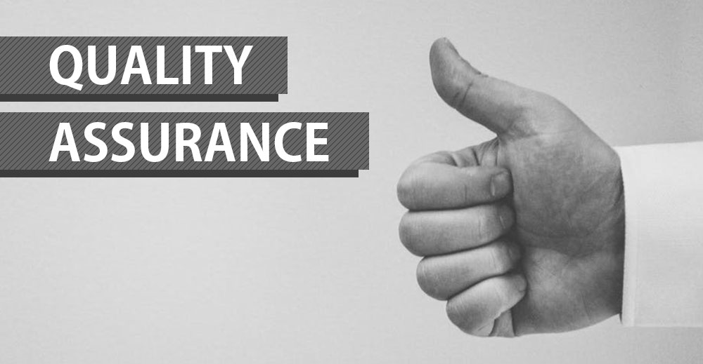 'Quality Assurance' and a thumbs up