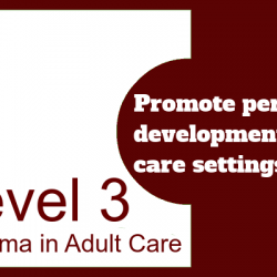 Promote Personal Development in Care Settings