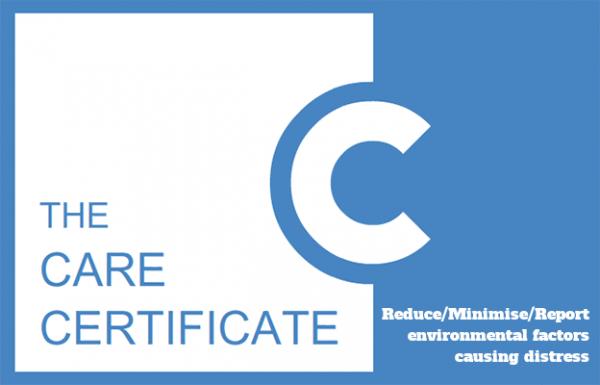 Reduce/Minimise/Report environmental factors causing distress - The Care Certificate
