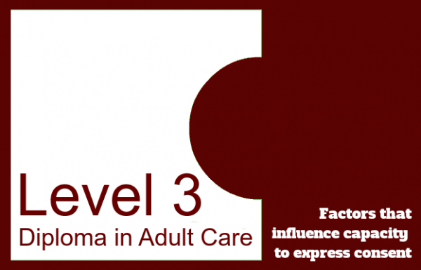 Factors that influence capacity to express consent - Level 3 Diploma in Adult Care