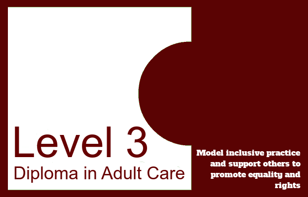 Model inclusive practice and support others to promote equality and rights - Level 3 Diploma in Adult Care