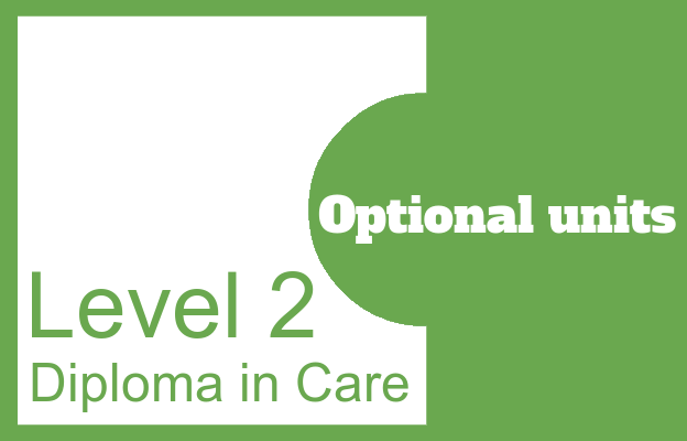 Optional units - Level 2 Diploma in Care