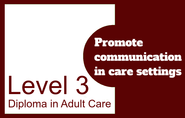 Promote communication in care settings - Level 3 Diploma in Care