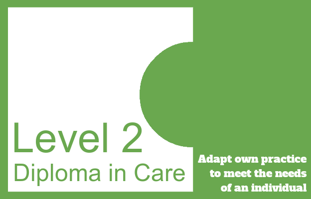 Adapt own practice to meet the needs of an individual - Level 2 Diploma in Care