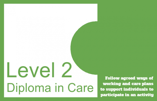 Follow agreed ways of working and care plans to support individuals to participate in an activity - Level 2 Diploma in Care