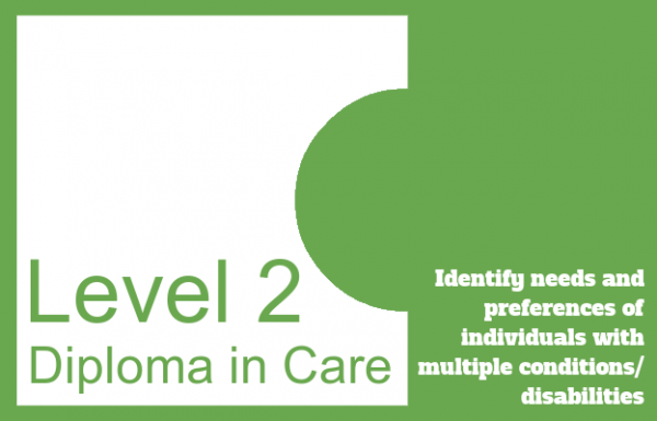 Identify needs and preferences of individuals with multiple conditions/disabilities - Level 2 Diploma in Care