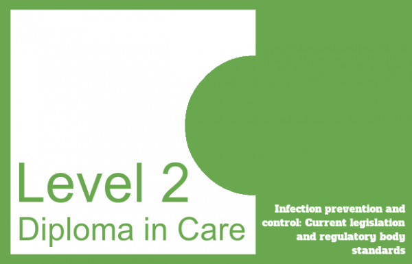 Infection prevention and control: Current legislation and regulatory body standards - Level 2 Diploma in Care