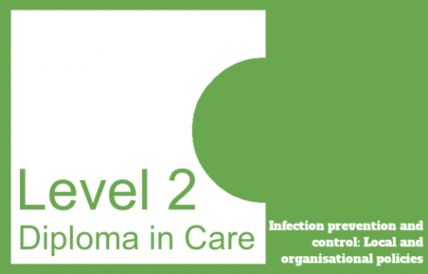 Infection prevention and control: Local and organisational policies - Level 2 Diploma in Care