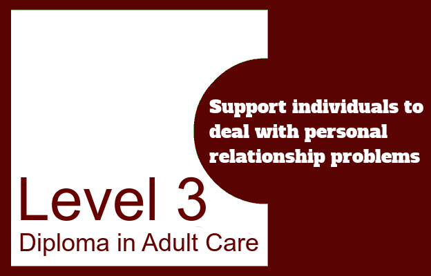 Support individuals to deal with personal relationship problems - Level 3 Diploma in Adult Care