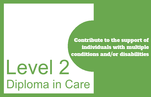 Contribute to the support of individuals with multiple conditions and/or disabilities - Level 2 Diploma in Care