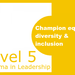 Champion Equality, Diversity & Inclusion
