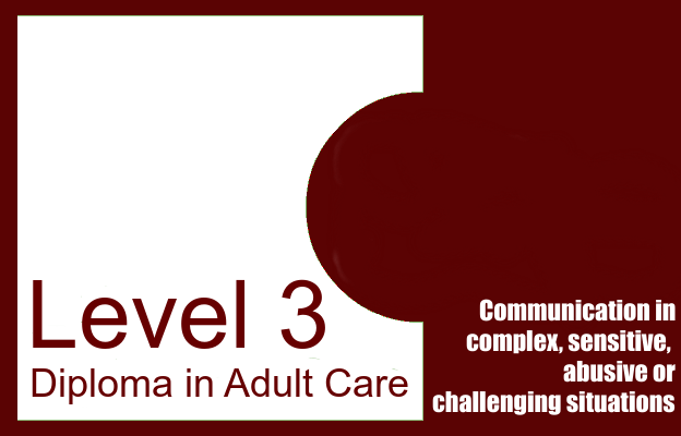 communication in complex sensitive abuse or challenging situations - level 3 diploma in adult care