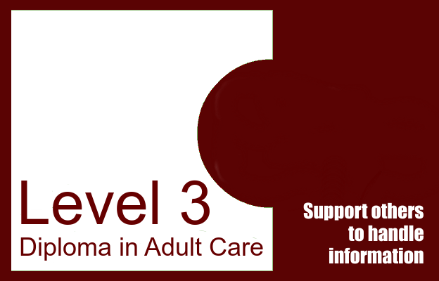 Support others to handle information - Level 3 Diploma in Adult Care
