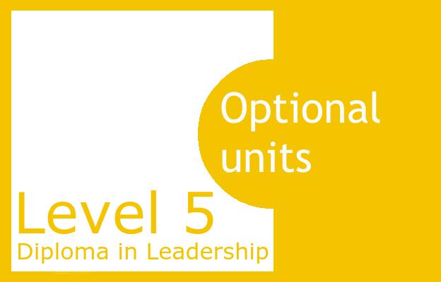 Optional Units - Level 5 Diploma