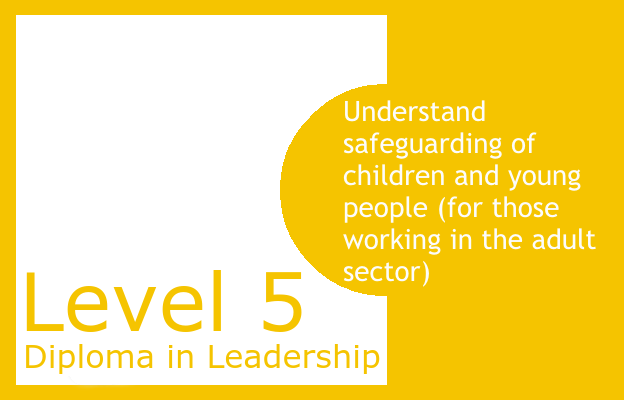 Understand safeguarding of children and young people (for those working in the adult sector) - Level 5 Diploma