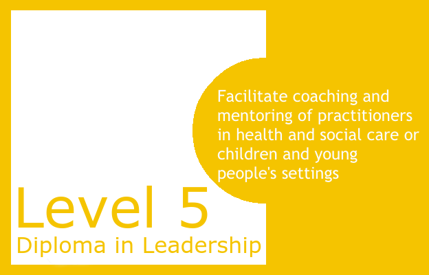 Facilitate coaching and mentoring of practitioners in health and social care or children and young people's settings - Level 5 Diploma