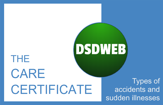 Types of accidents and sudden illnesses - Care Certificate - DSDWEB.