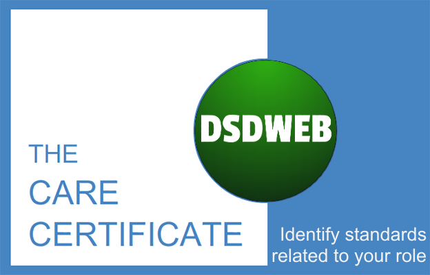 Identify standards related to your role - Care Certificate - DSDWEB.