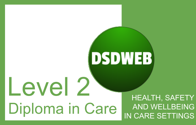 Health, safety and wellbeing in care settings - Level 2 Diploma in Care - DSDWEB.