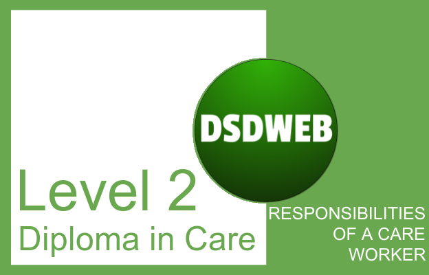 Responsibilities of a care worker - Level 2 Diploma in Care - DSDWEB.