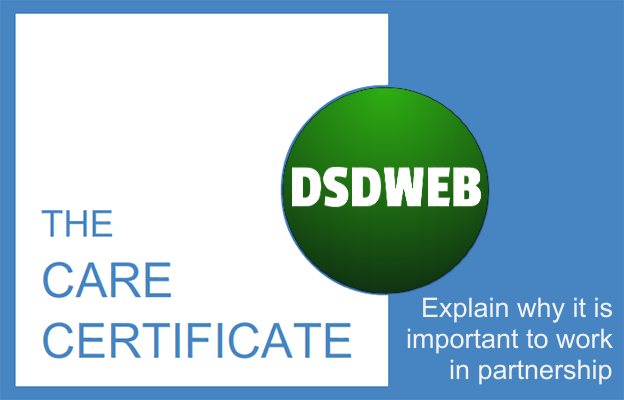 Explain why it is important to work in partnership - Care Certificate - DSDWEB.