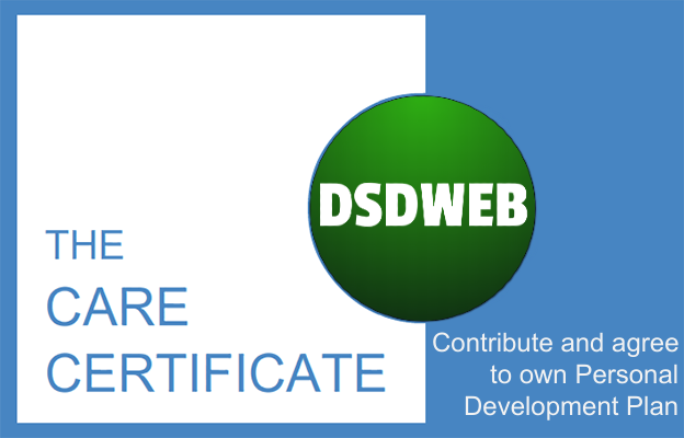 Contribute and agree to own personal development plan - CAre Certificate - DSDWEB.