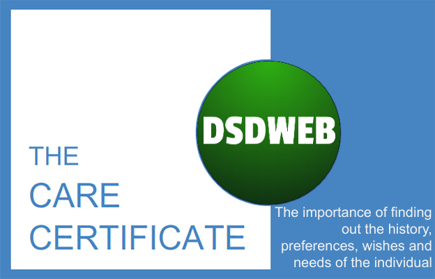 The importance of finding out the history, preferences, wishes and needs of the individual - Care Certificate - DSDWEB.