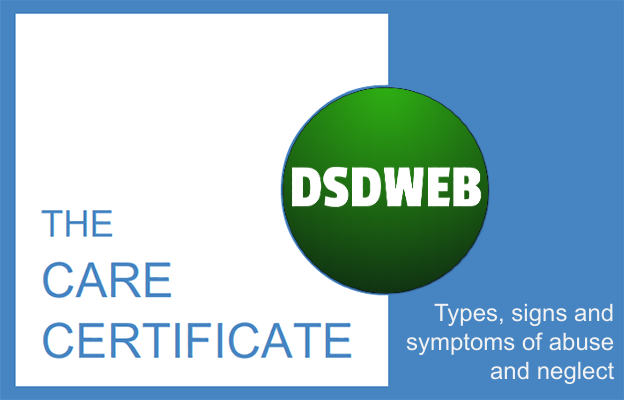 Types, signs and symptoms of abuse and neglect - Care Certificate - DSDWEB.