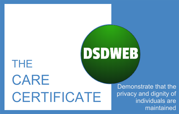 Demonstrate that the privacy and dignity of individuals are maintained - Care Certificate - DSDWEB.