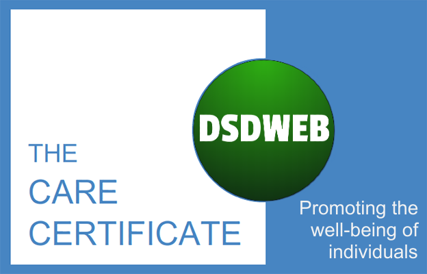 Promoting the well-being of individuals - Care Certificate - DSDWEB.