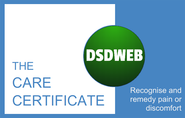 Recognise and remedy pain or discomfort - Care certificate - DSDWEB.