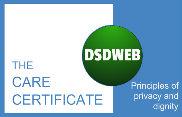 Principles of privacy and dignity - Care Certificate - DSDWEB.
