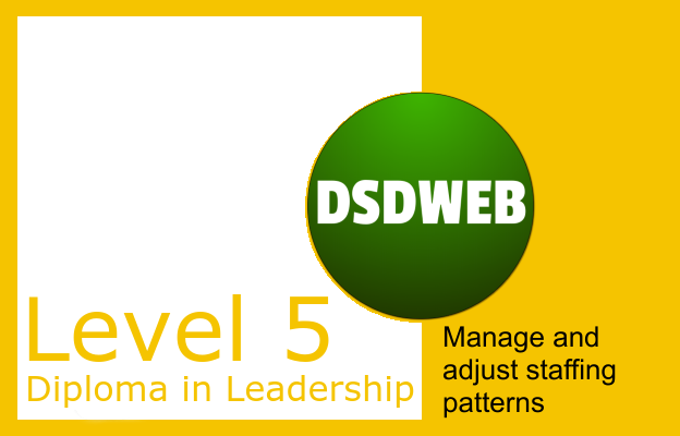 2.5 Manage and adjust staffing patterns - Level 5 Diploma in Leadership & Management - DSDWEB.