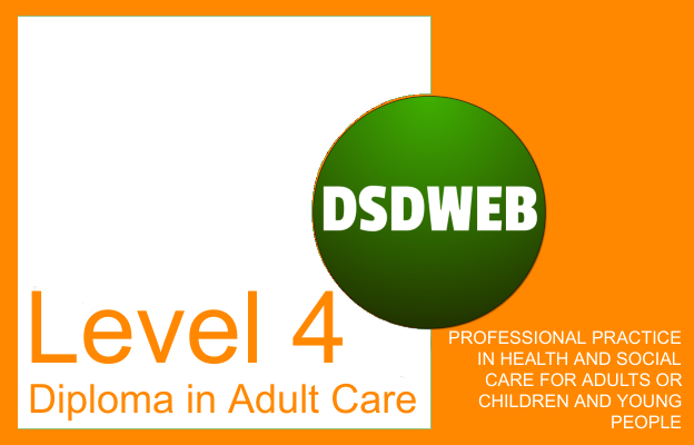 Professional practice in health and social care for adults or children and young people - Level 4 Diploma in Adult Care - DSDWEB.