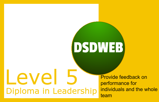 Provide feedback on performance for individuals and the whole team - Level 5 Diploma in Leadership and Management for Adult Care - DSDWEB.